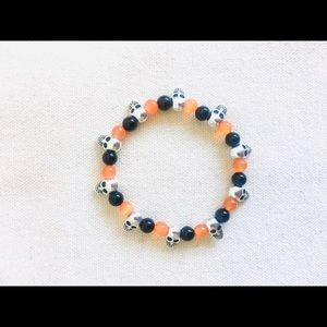 NEW! Beaded Skull Stretch Bracelet
